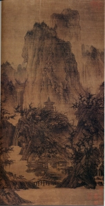 Solitary Temple, by Li Cheng