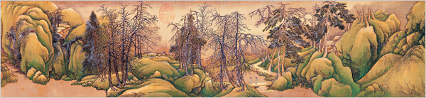 Clearing after Snow at Shanyin, by Wang Hui (1671)