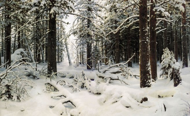 """Winter"", by Ivan Shishkin"