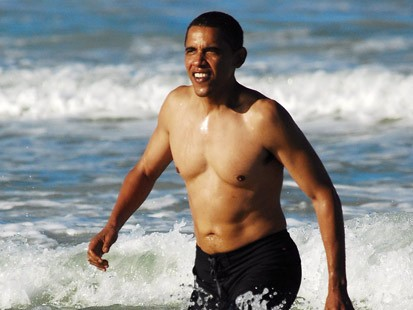 A Day At the Beach With Obama
