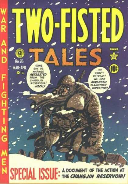 Harvey Kurtzman's cover for Two-Fisted Tales #26 (March/April 1952)