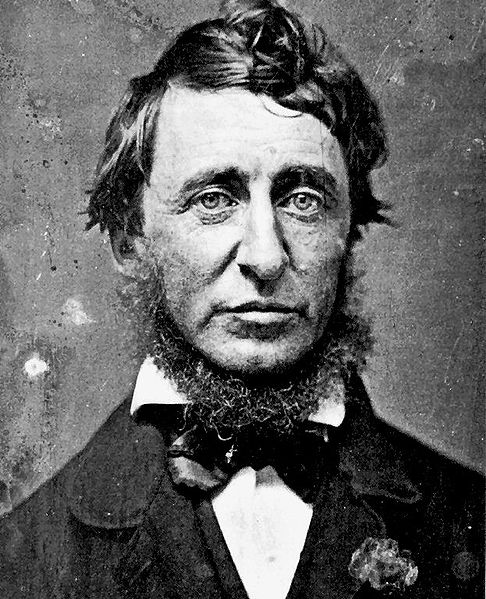 Henry David Thoreau, who took nothing for granted.