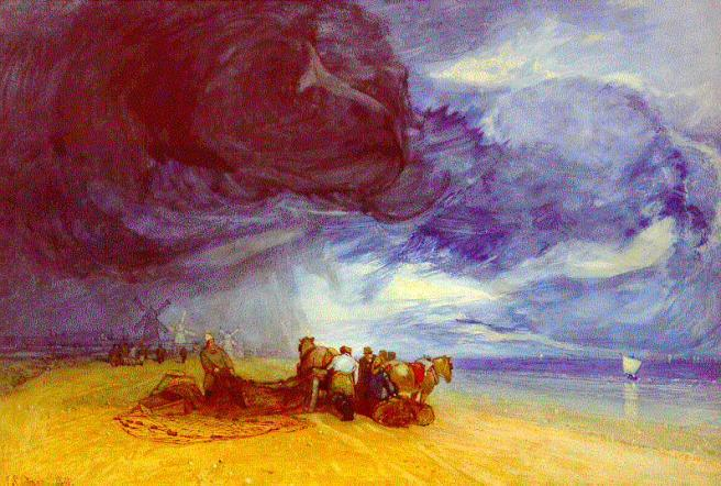 """Storm on Yarmouth Beach"", by John Sell Cotman (1831)"