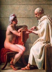 Socrates and Alcibiades by Christoffer Wilhelm Eckersberg (1816)